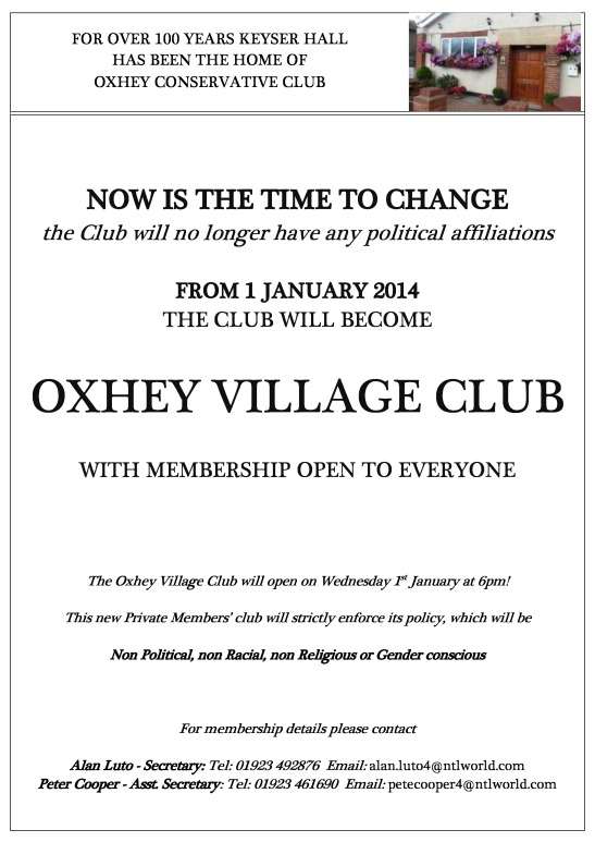Oxhey Village Club