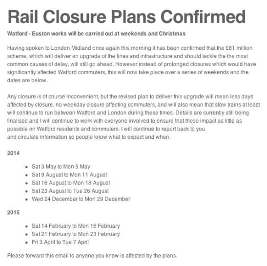 Rail Closure