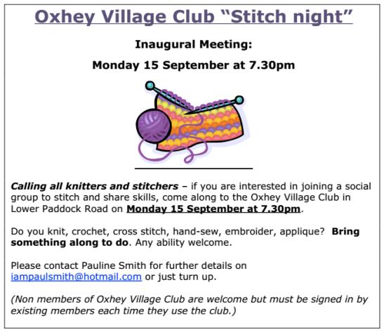 Stitch Night