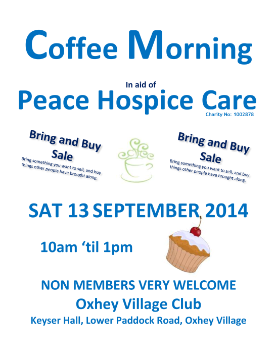 September 2014 Coffee Morning