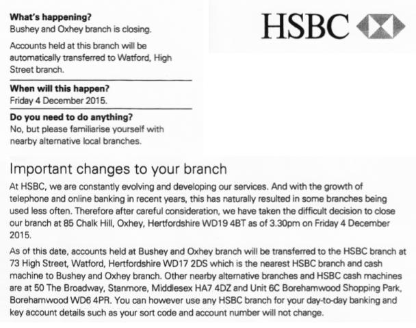 HSBC Oxhey