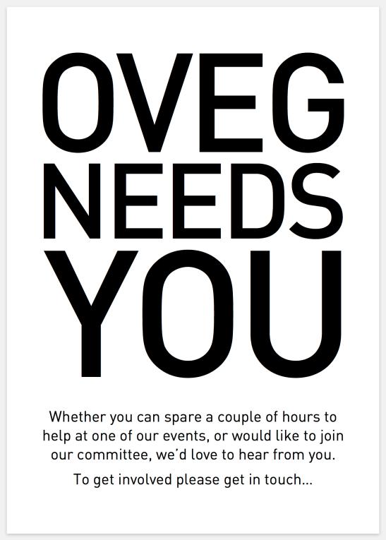 OVEG Needs You