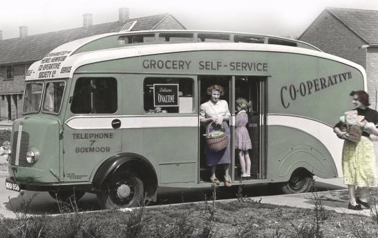 Grocery van, Oxhey, 1950s. JANUARY.JPG