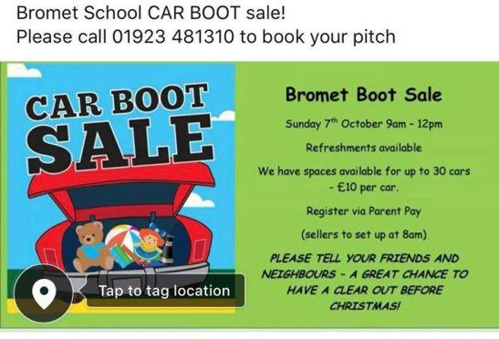 Bromet Boot Sale