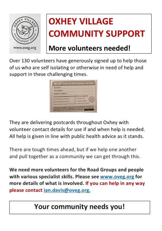 oxhey village support