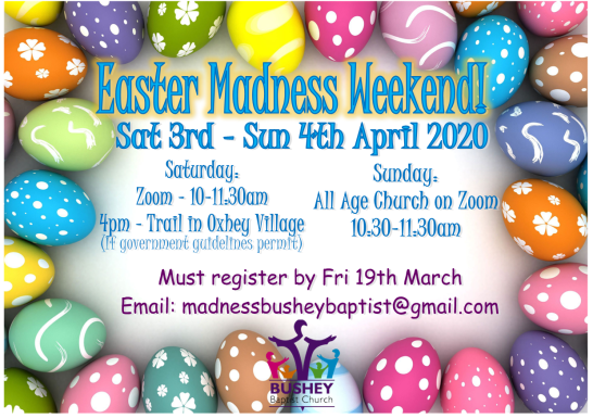 Easter Madness Save the Date Flier